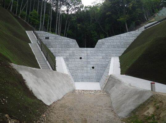 広島西部山系緑ヶ丘3号砂防堰堤工事
