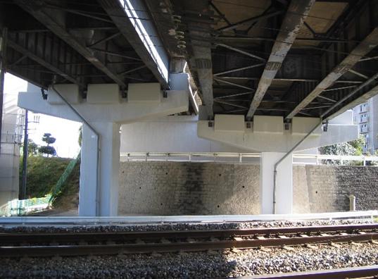 国道2号地御前跨線橋補修工事